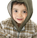 Boy with Hooded Jacket Royalty Free Stock Image