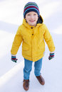 Boy ice skating Royalty Free Stock Photo