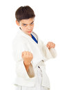 Boy involved in the fight Royalty Free Stock Image