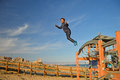 Boy Jumping Royalty Free Stock Photo