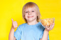 Boy kid child eating corn flakes cereal Royalty Free Stock Photo
