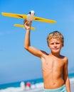 Boy with kite Royalty Free Stock Photo