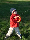 Boy Kite Flying Royalty Free Stock Images