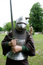 Boy in knight armour Stock Photography