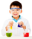 Boy at the lab Stock Image