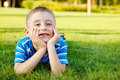 Boy laughing Stock Photography