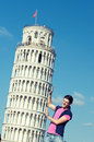 Boy with Leaning Tower of Pisa