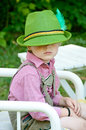Boy in lederhousen and hat Royalty Free Stock Photo