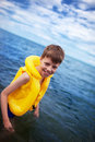 Boy in the life-vest Stock Photography