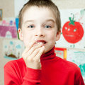 Boy with lost teeth Royalty Free Stock Photo