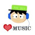 The boy love music soul