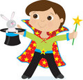 Boy Magician Royalty Free Stock Photo