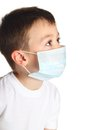 Boy in medicine mask Stock Photos