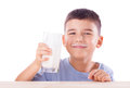Boy with milk mustache Royalty Free Stock Photo