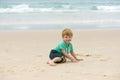 Boy at the ocean Royalty Free Stock Photo