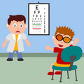 Boy and Optician Royalty Free Stock Image