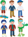 Boy outfits Royalty Free Stock Images