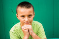 Boy paying attention young close Royalty Free Stock Photography