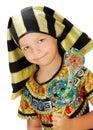 Boy pharaoh in carnival costume egyptian Stock Photography
