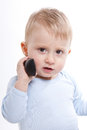 Boy with phone Royalty Free Stock Photo