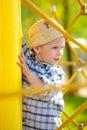 Boy on playground Royalty Free Stock Photo