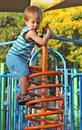 Boy at the playground Royalty Free Stock Photos