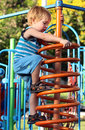 Boy at the playground Stock Photography