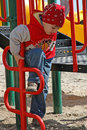 A boy at playground Stock Image