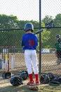Boy Playing Baseball Stock Images