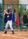 Boy Playing in Baseball Game Royalty Free Stock Photo