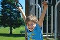 Boy Playing at Park Royalty Free Stock Photo