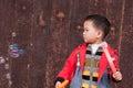 Boy playing soapbubble Royalty Free Stock Photo