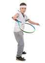 Boy playing tennis Royalty Free Stock Image