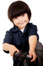 Boy playing video games Royalty Free Stock Photography