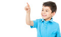 Boy pointing Royalty Free Stock Photo