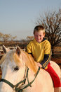 Boy on Pony Royalty Free Stock Photo