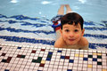 Boy in pool 2 Royalty Free Stock Photography