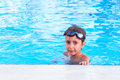 Boy in the pool portrait of Royalty Free Stock Images