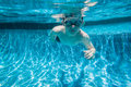 Boy Pool Underwater Royalty Free Stock Images