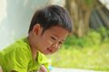 Boy portrait asian close up Royalty Free Stock Photo