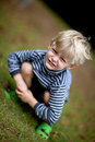 Boy posing at funny angle Royalty Free Stock Photo