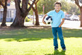 Boy Posing With Soccer ball Stock Image