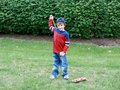 Boy Practicing Baseball Royalty Free Stock Photography