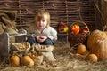 Boy With Pumpkins