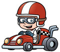 Boy racing vector illustration of Stock Photos
