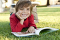 Boy reading Royalty Free Stock Image