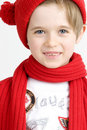 Boy in a red cap Stock Photo