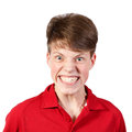 Boy in red shirt Stock Image
