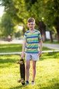 Boy riding a skateboard Royalty Free Stock Photo