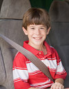 Boy Riding in Van Royalty Free Stock Photography